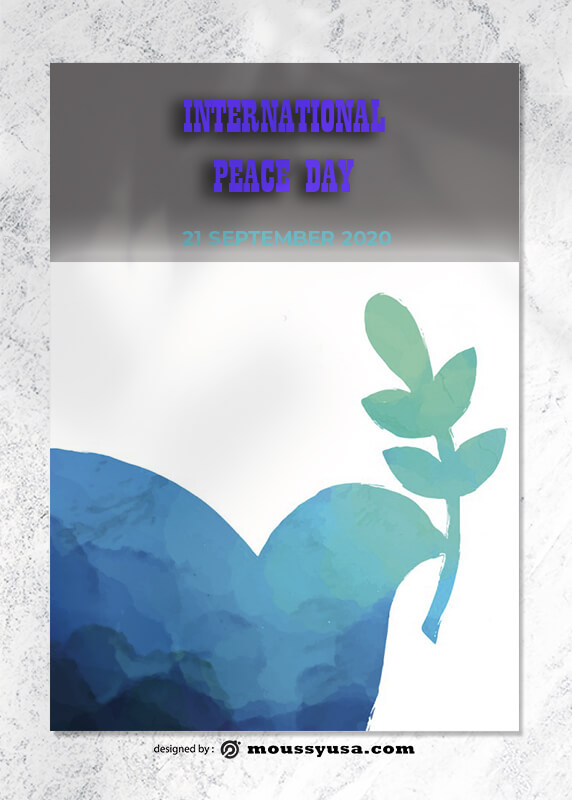 World Peace Day Greeting Card Design PSD