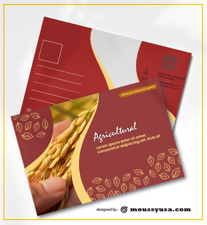 Agricultural Postcard Design templates