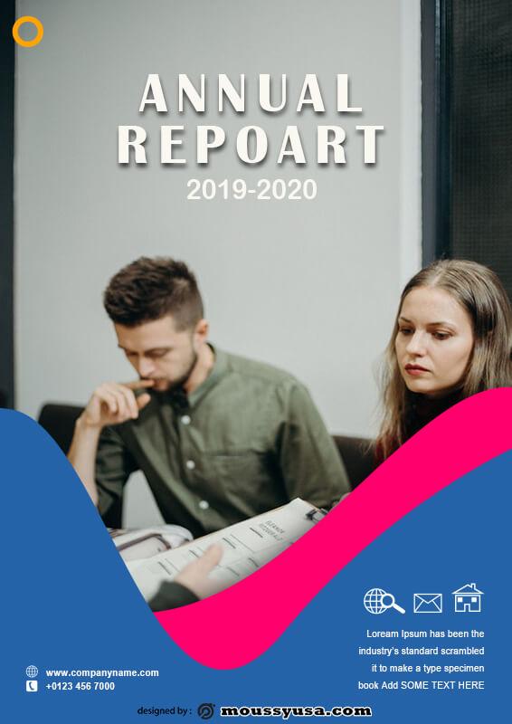 Annual Report customizable psd design template