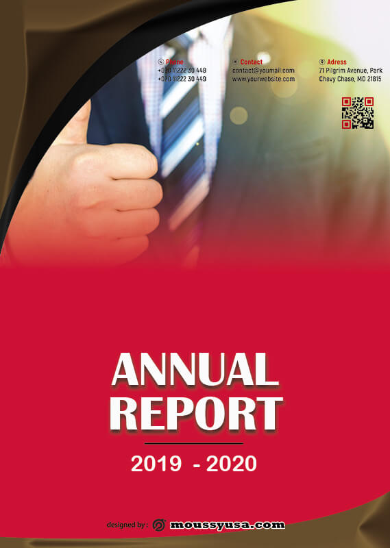 Annual Report free psd template