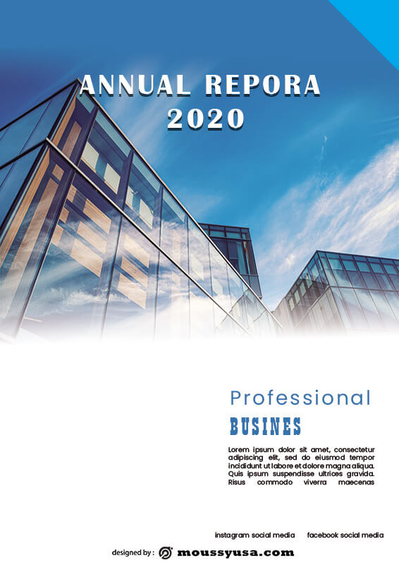 Annual Report in photoshop free download