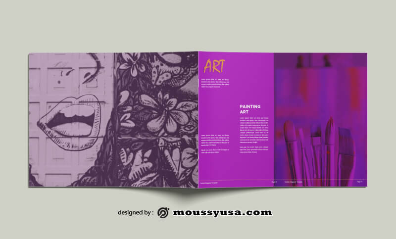Art Magazine templates Example