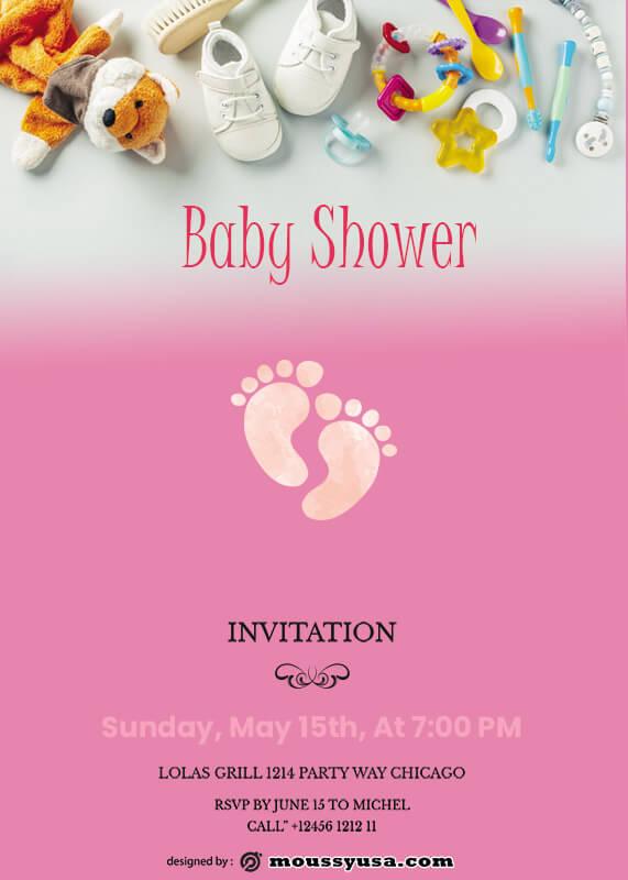 Baby Invitation example psd design
