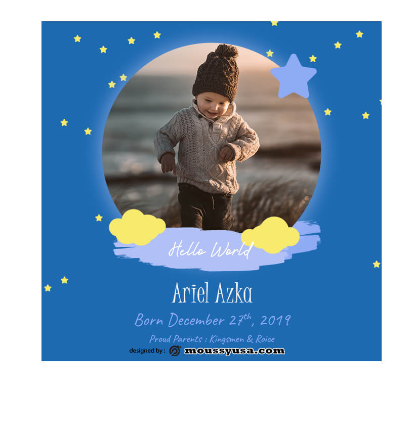 Baby Invitation in photoshop free download