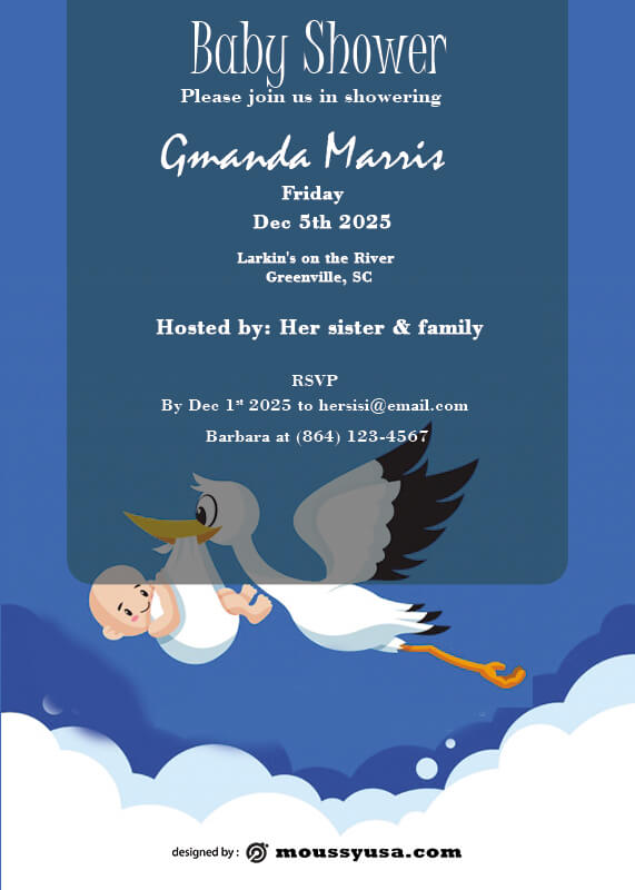 Baby Invitation in photoshop