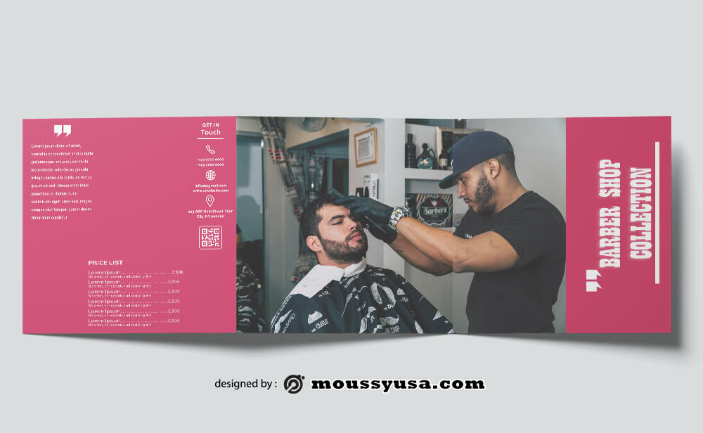 Barbershop Brochure templates Ideas