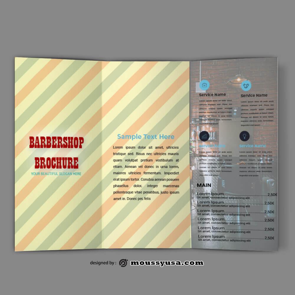 Barbershop Brochure templates Sample