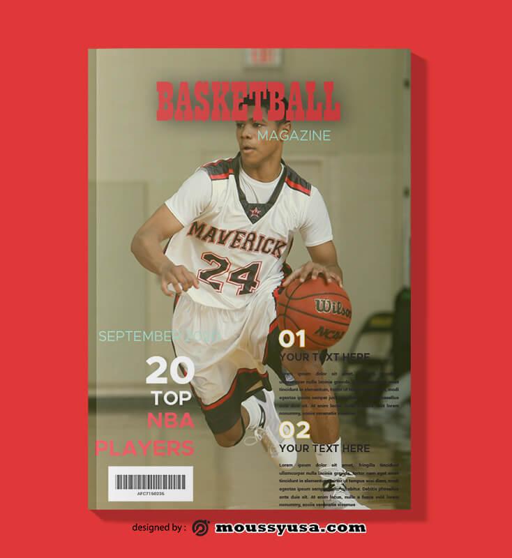 Basketball Magazine templates Example