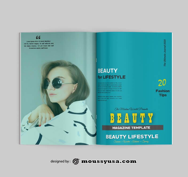 Beauty Magazine Design PSD