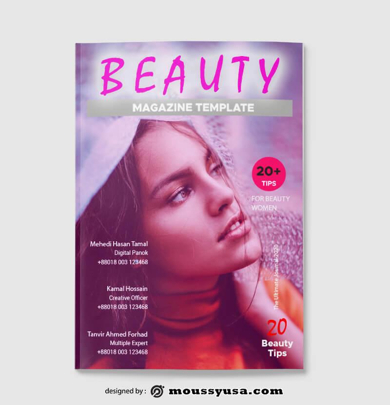 Beauty Magazine templates Example
