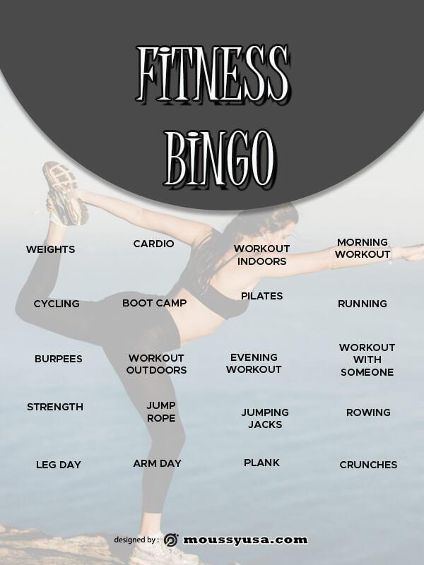 Bingo Card free psd template