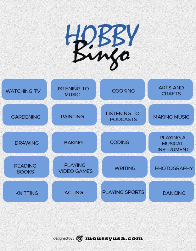 Bingo Card psd template free