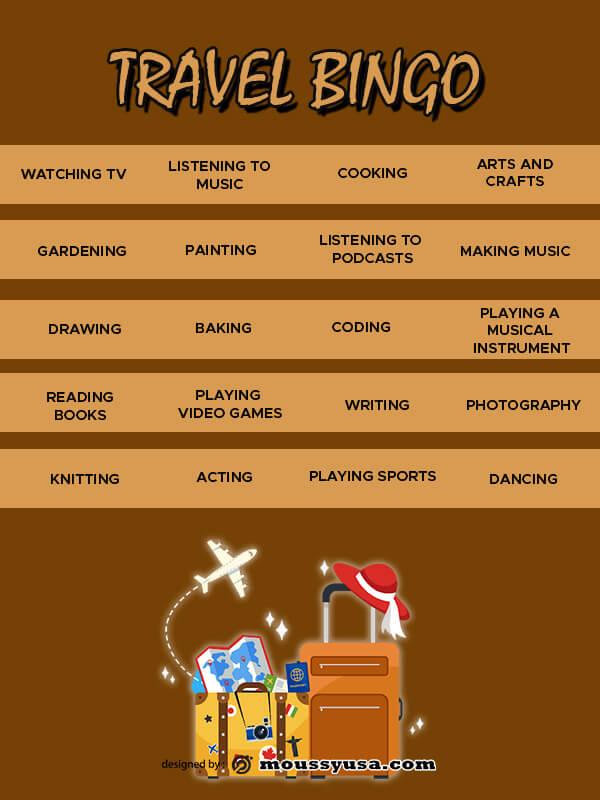 Bingo Card template free psd