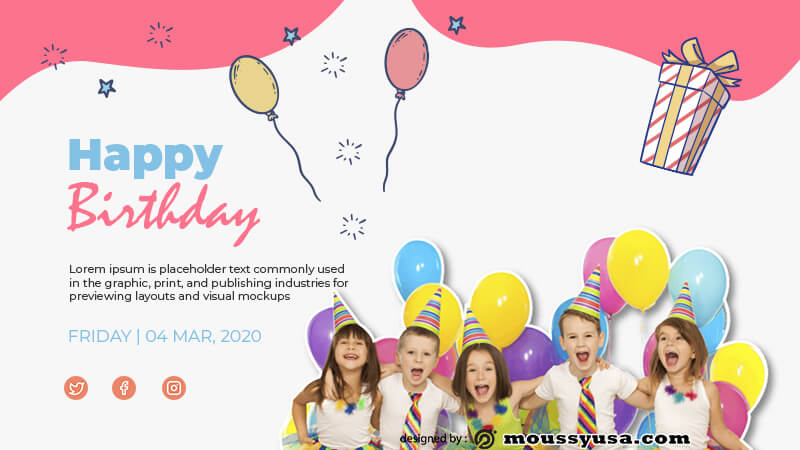 Birthday Banner example psd design
