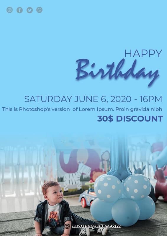 Birthday Banner free psd template