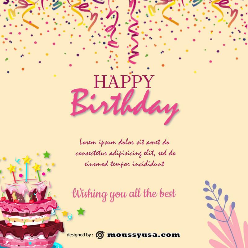 Birthday Banner in photoshop free download