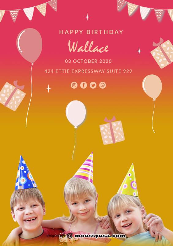 Birthday Banner in psd design
