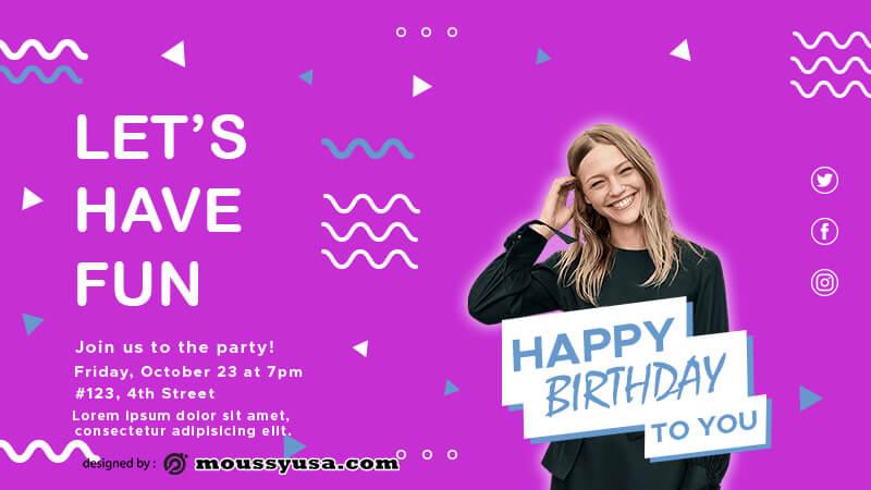 Birthday Banner psd template free