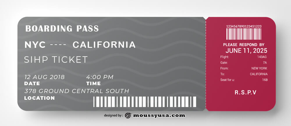 Boarding Pass in photoshop