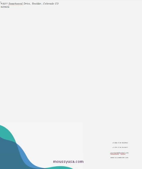Business Letterhead in word free download