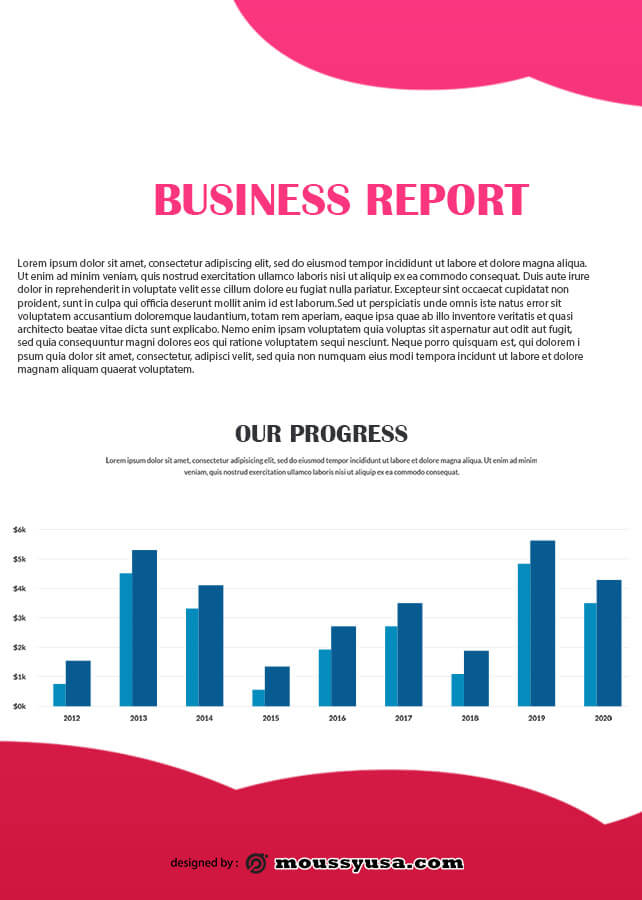 Business Report in photoshop free download