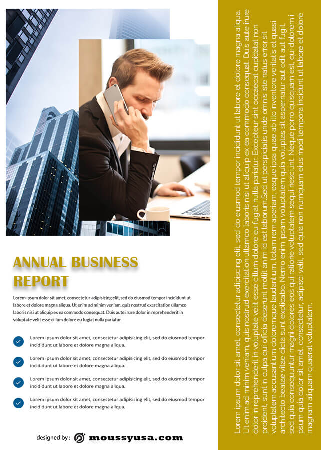 Business Report in photoshop
