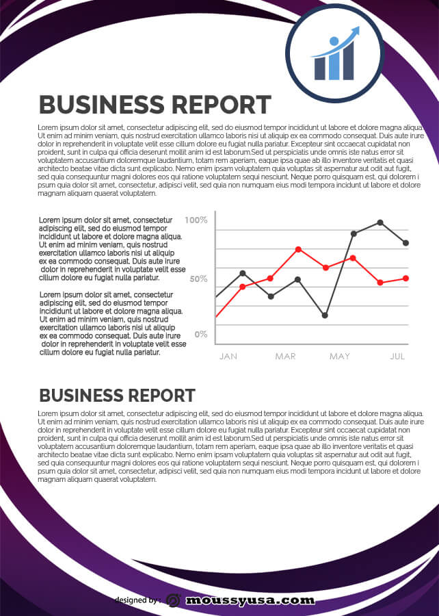 Business Report psd template free