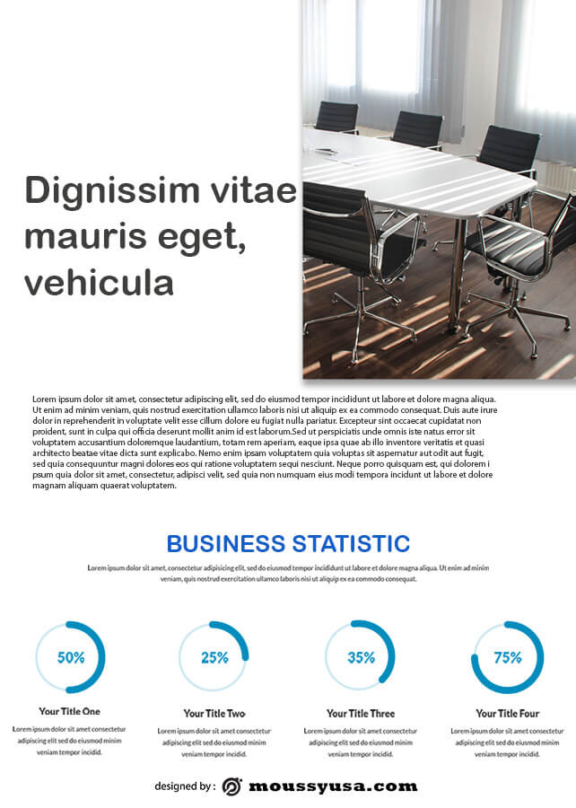 Business Report template for photoshop