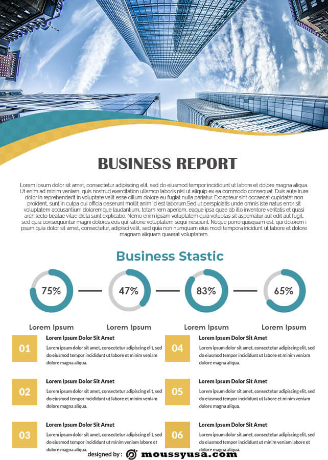 Business Report template free psd