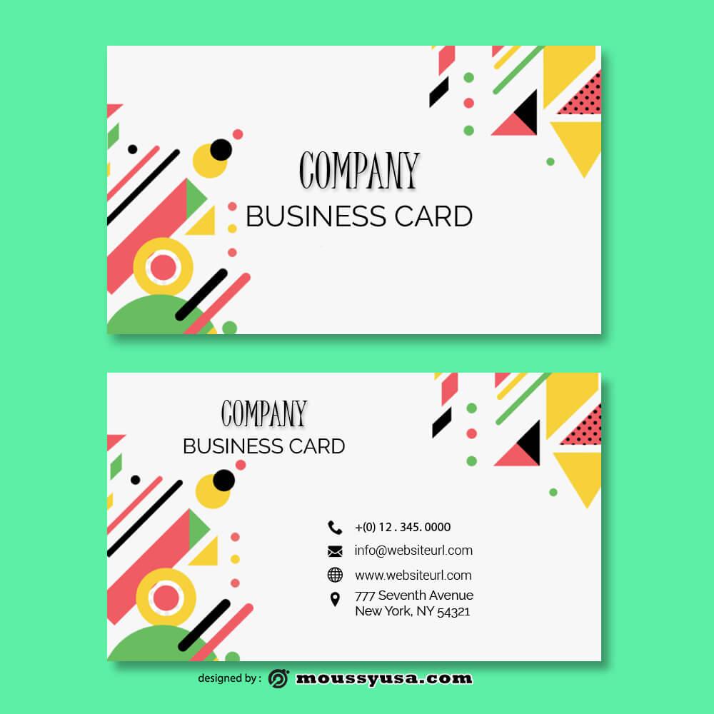 Business card Template example psd design