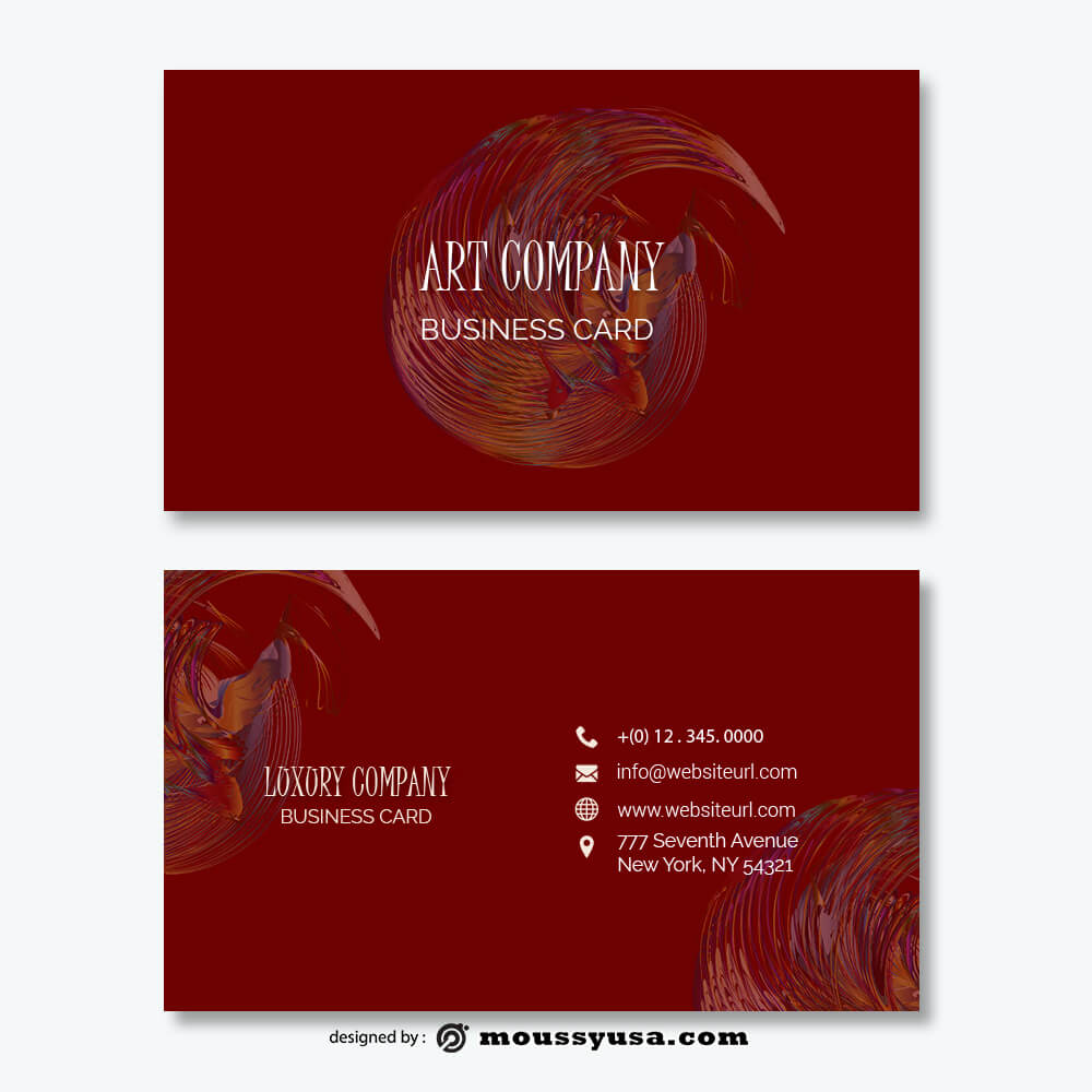 Business card Template free psd template