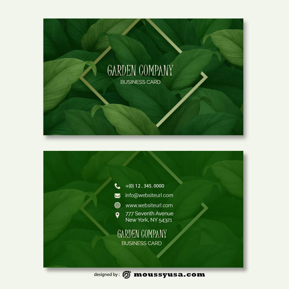 Business card Template in photoshop