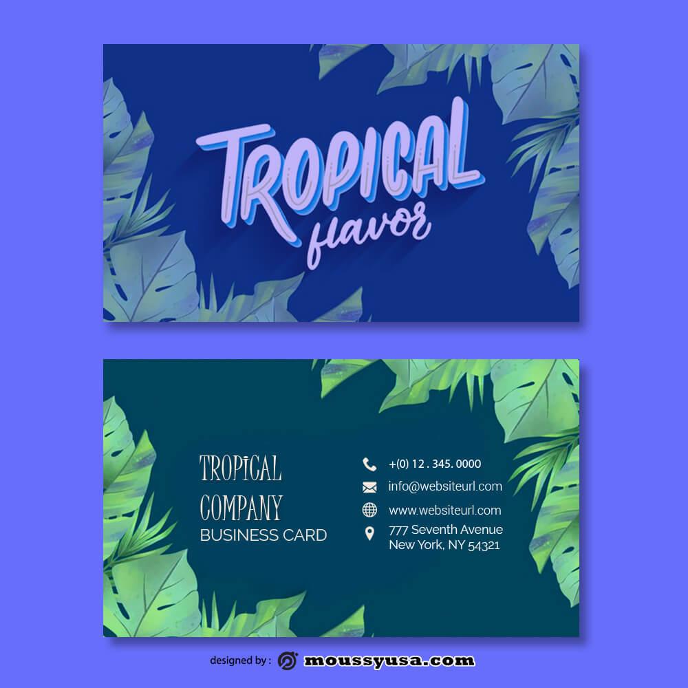 Business card Template in psd design