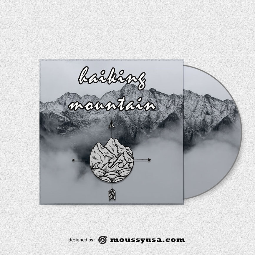 CD cover customizable psd design template