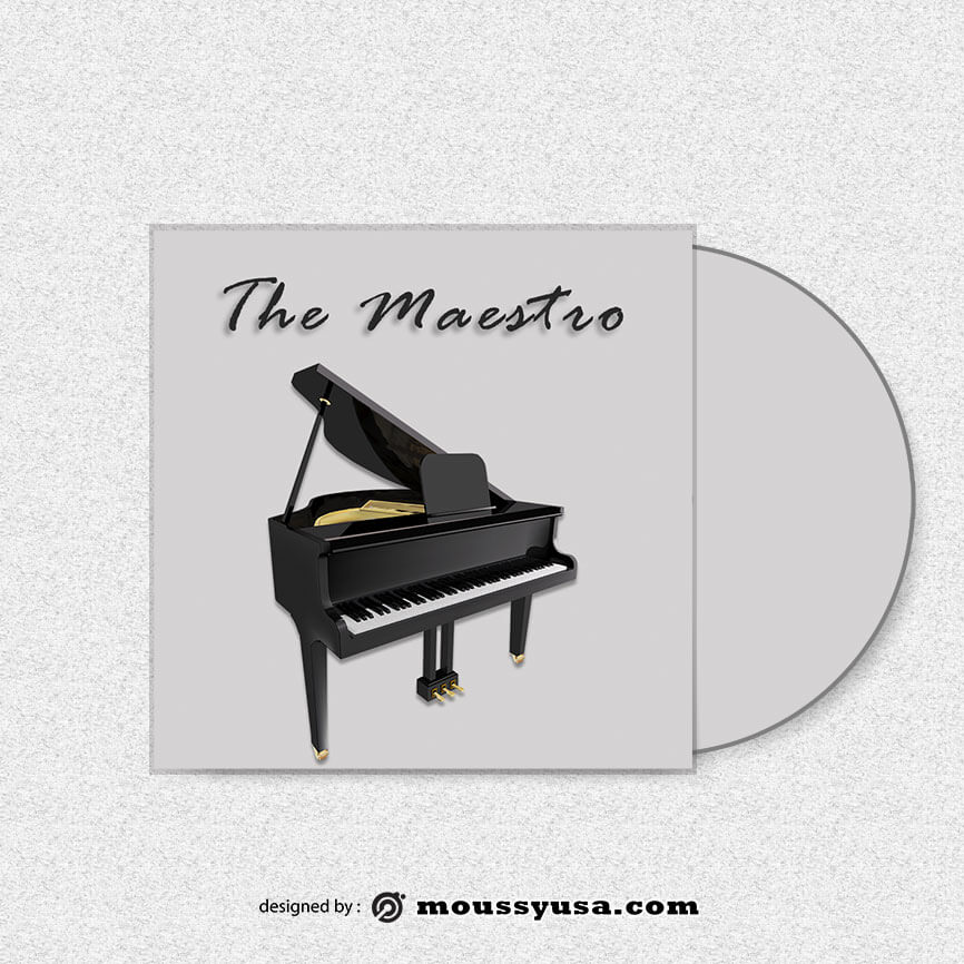 CD cover free psd template