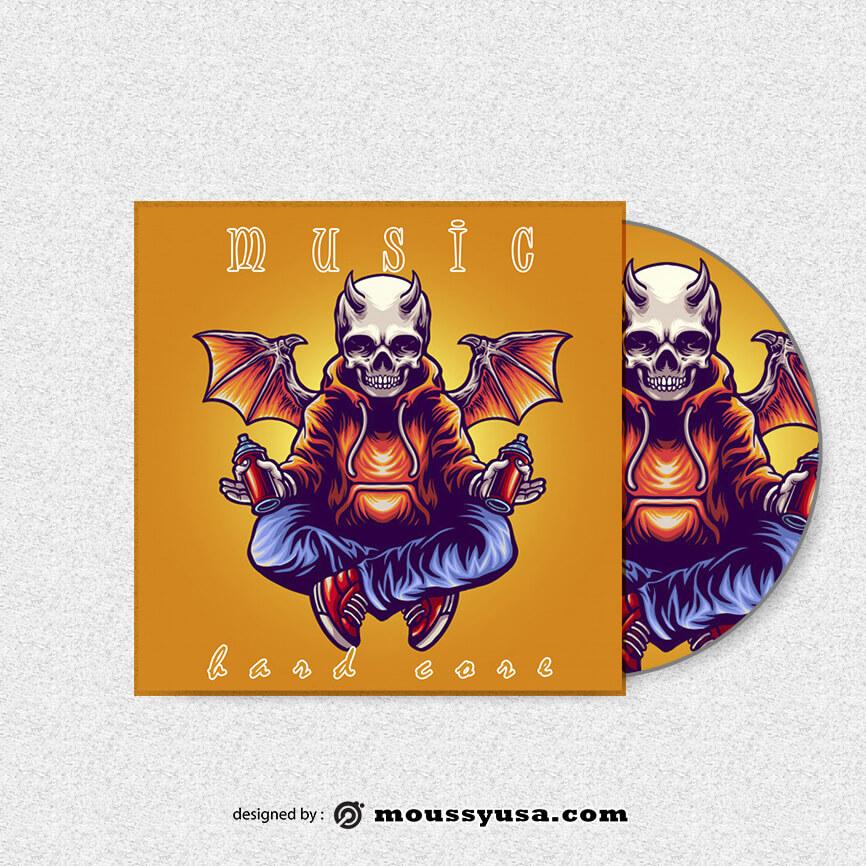 CD cover in psd design