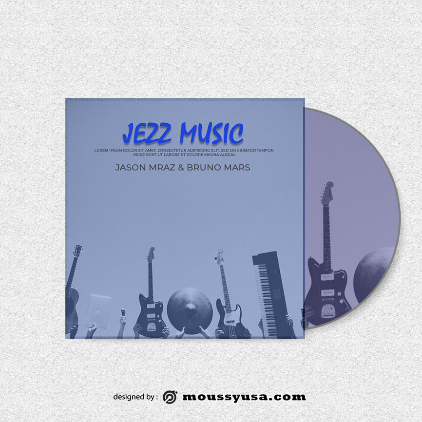 CD cover psd template free