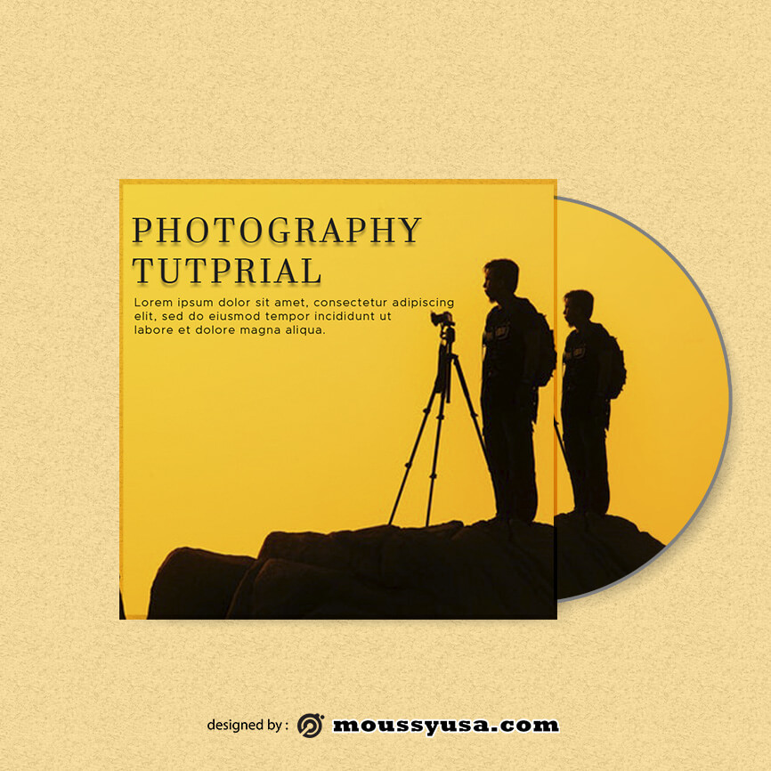 CD cover template for photoshop