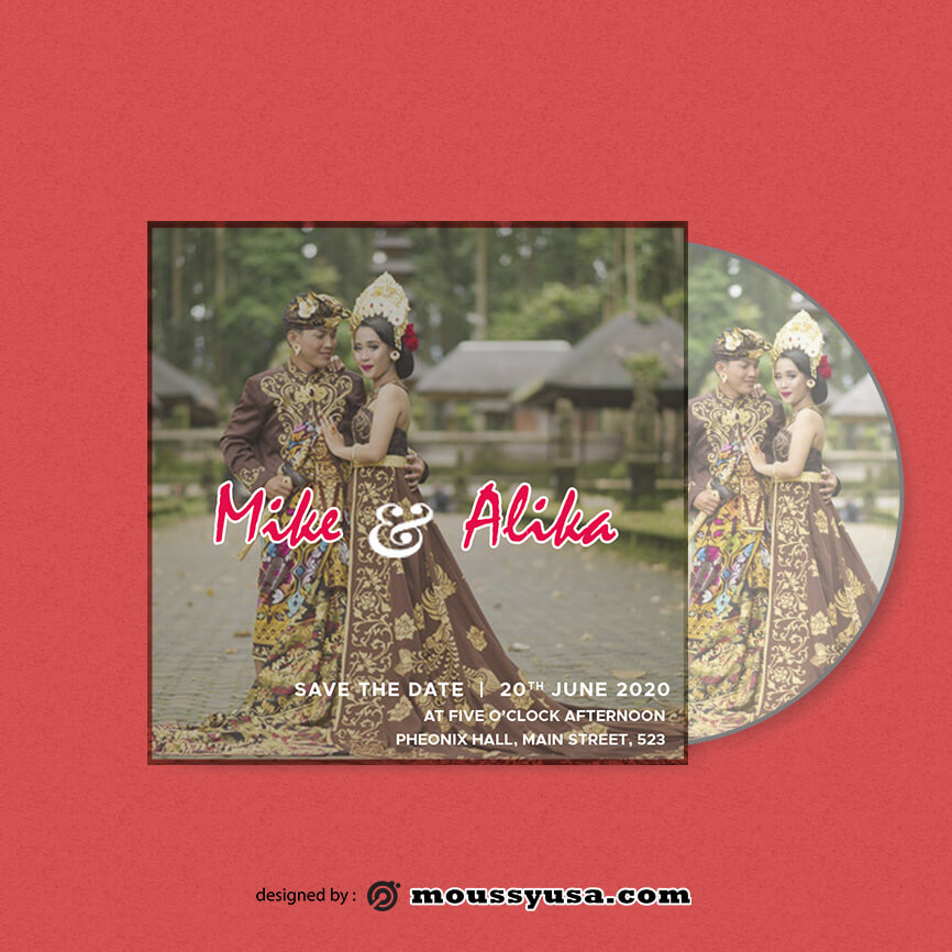 CD cover template free psd