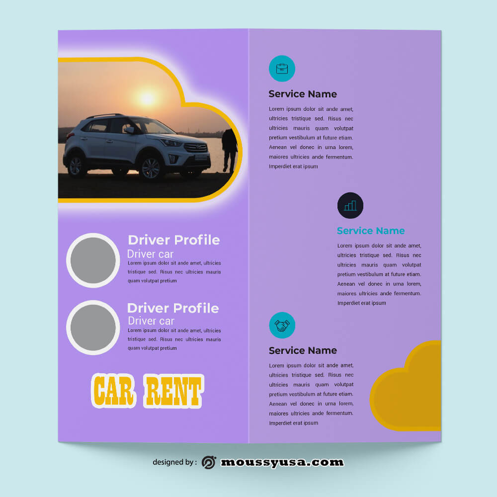 Car Rent Brochure Design Ideas