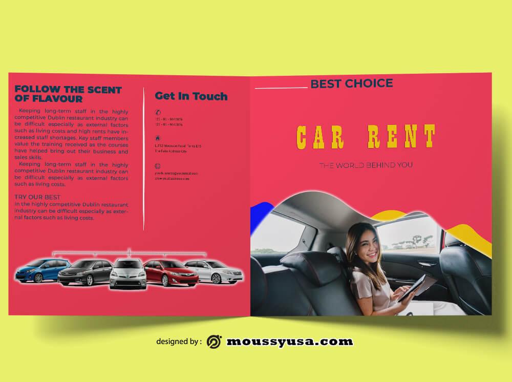 Car Rent Brochure Design PSD