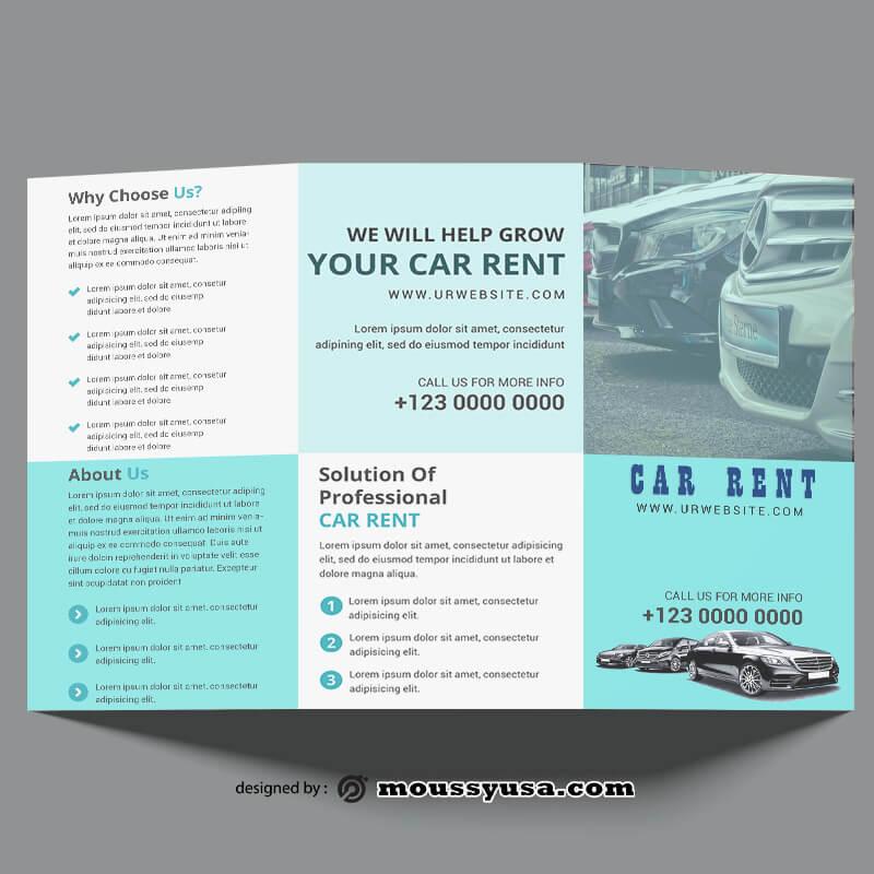 Car Rent Brochure Design templates