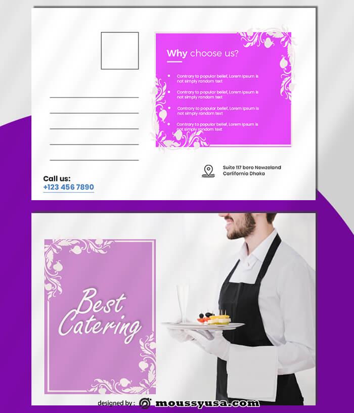 Catering Postcard Design PSD