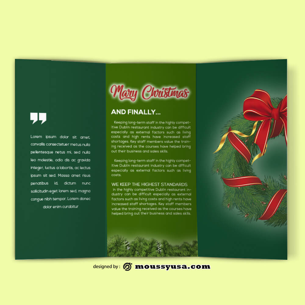 Christmas Brochure templates Ideas