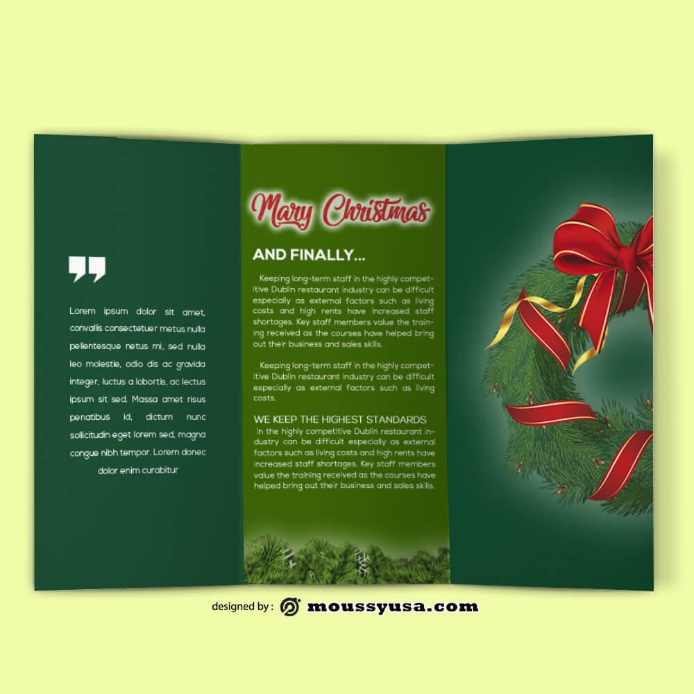 Christmas Brochure templates Ideas