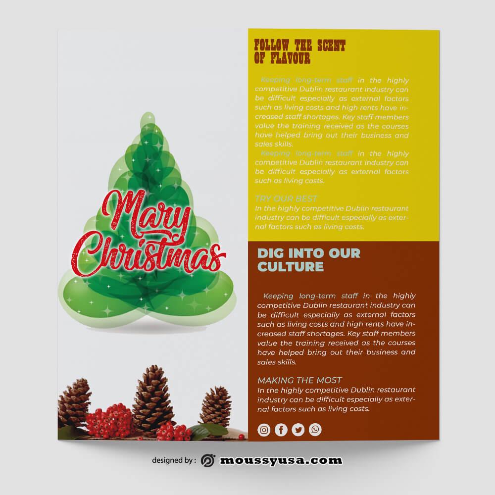 Christmas Brochure templates Sample