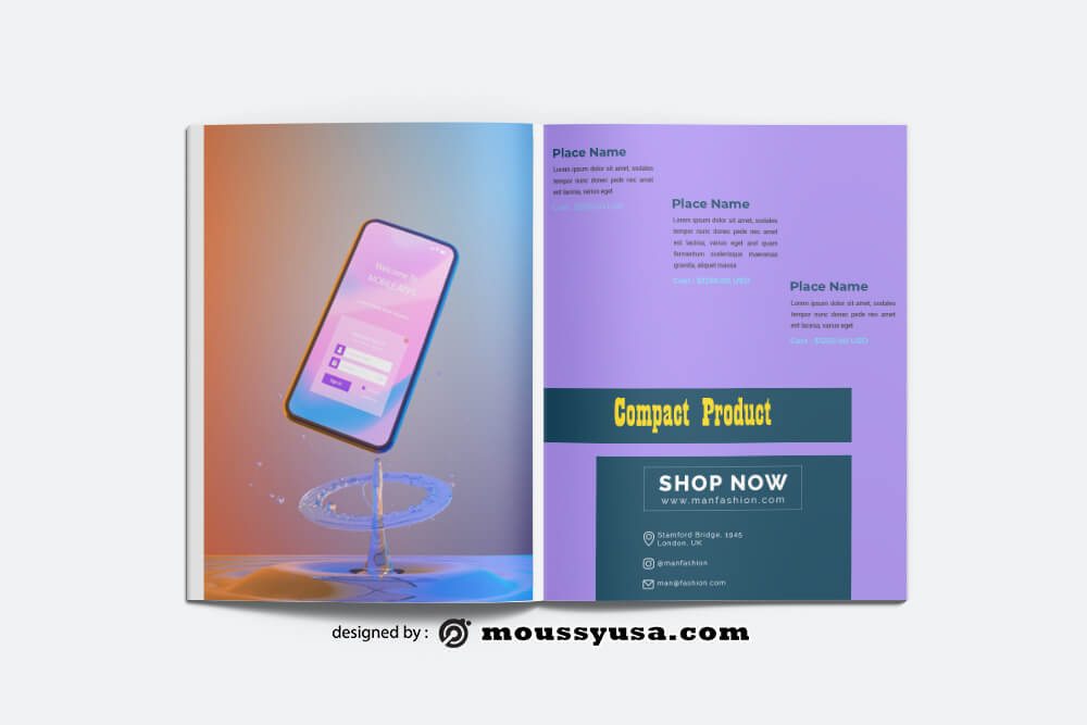 Compact Product Catalog templates Sample