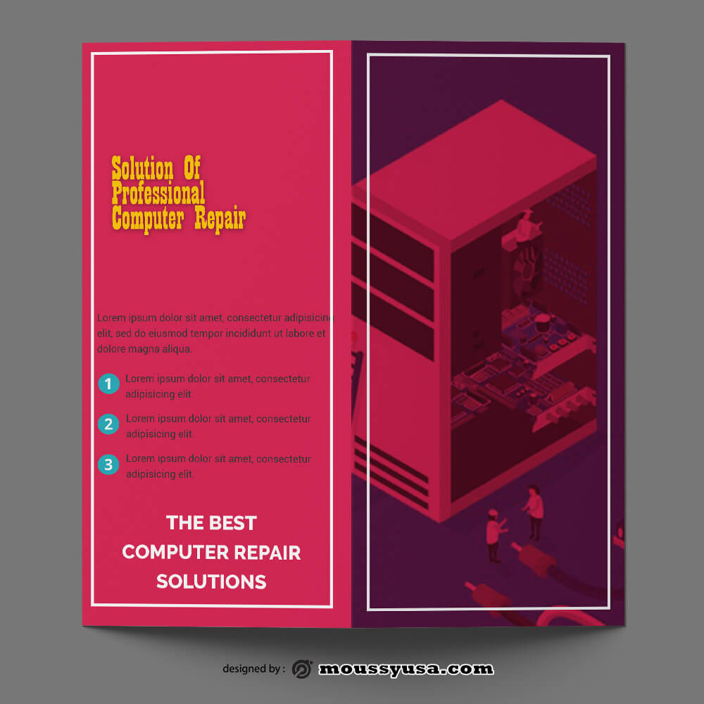 Computer Repair Brochure templates Sample