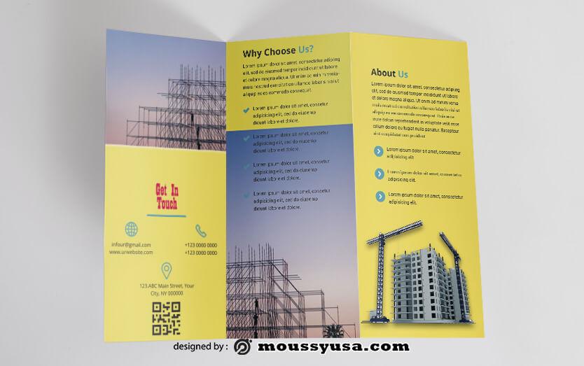 Construction Brochure Design PSD