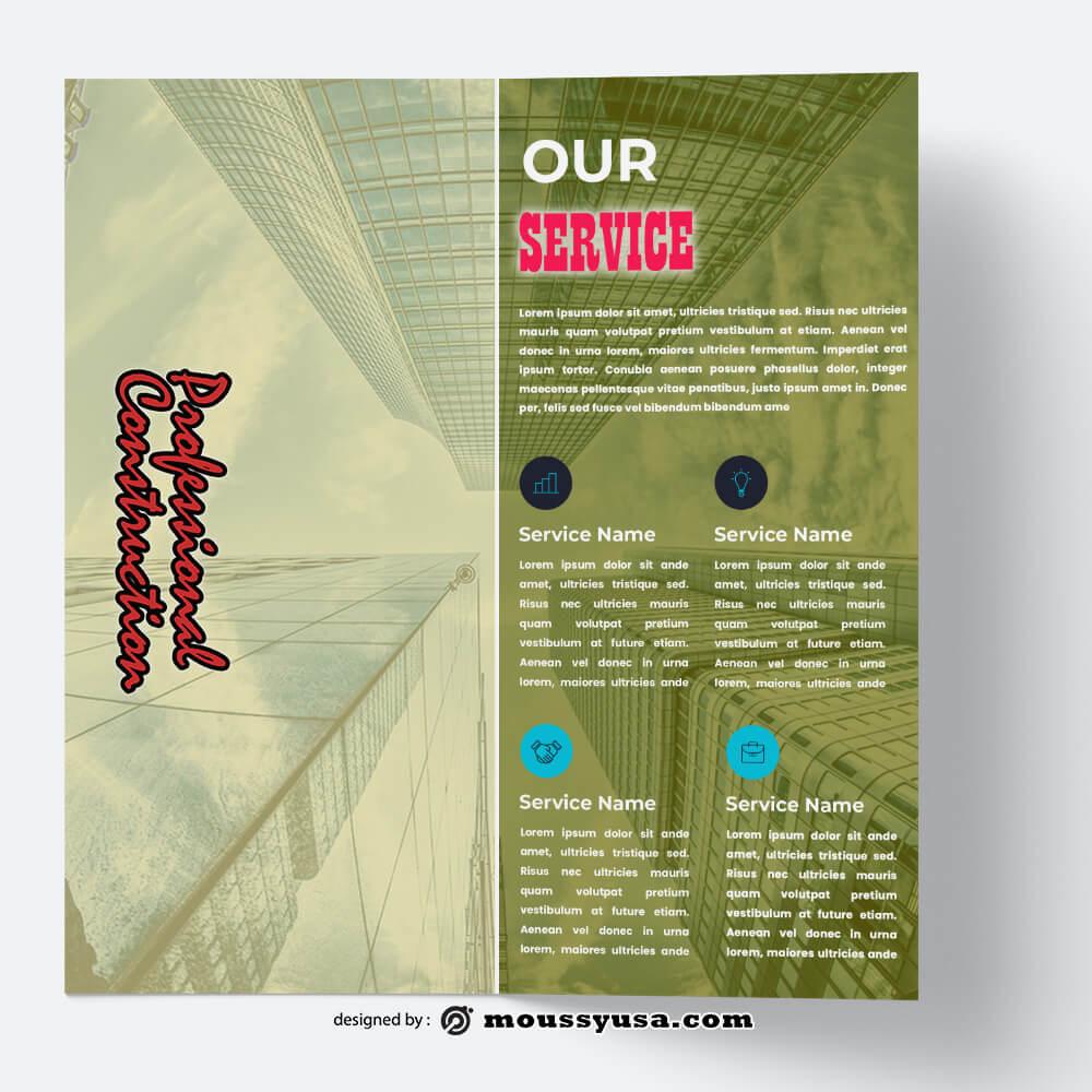 Construction Brochure Design templates